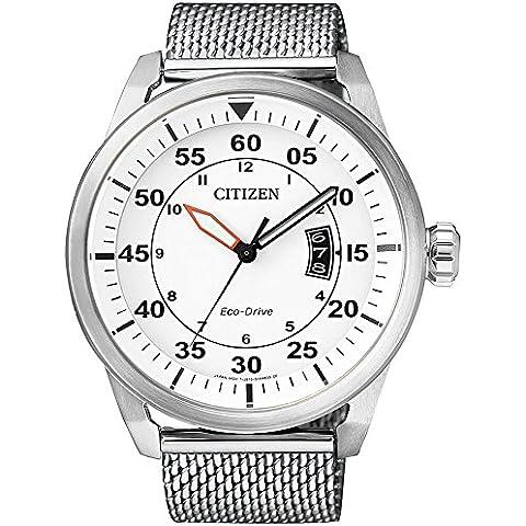 Solar Reloj hombre Citizen Milanaise Eco de Drive elegante reloj de hombre AW1360–55, relojes Variante: N °