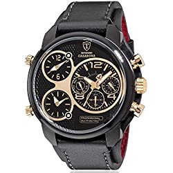 DeTomaso Men's Quartz Watch Analogue Display and Leather Strap DT2018-F