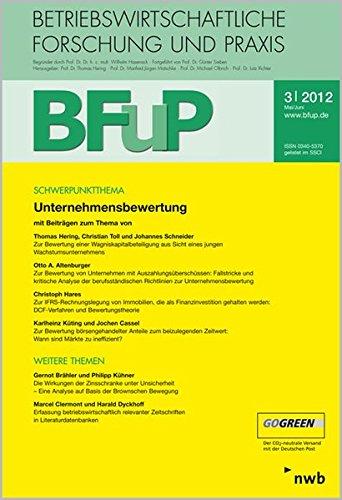 Unternehmensbewertung: BFuP 3/2012