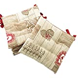 Set 4 Kissen Stuhl Morbidotto GARDENA Tiroler cm 40 x 40 in Jacquard – 100% Made in Italy