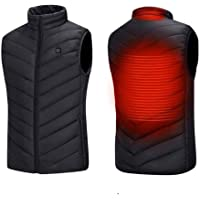tmtonmoon Heated Vest USB Electric Heating Jackets Three-Level Temperature Control Lightweight Body Warmer Intelligent…