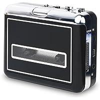 Rybozen USB Convertidor y Reproductor de Cinta casetes,Convertir Audio Cassette a MP3 Digital,para Grabar Cassette a mp3 en Windows o Mac