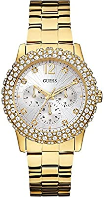Guess W0335L2 - Reloj de cuarzo para mujer, con correa de acero inoxidable, color dorado