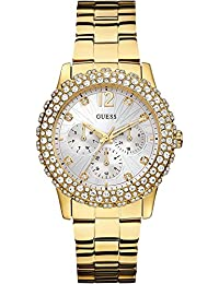 GUESS Damen-Armbanduhr Dazzler Analog Quarz Edelstahl W0335L2
