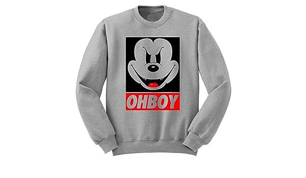 2231f9ab Digital Pharaoh Evil Mickey Mouse Ohboy Sweater Obey Disney: Amazon.co.uk:  Clothing
