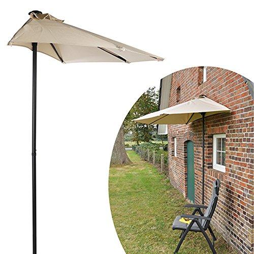 #0107 Halbrunder Sonnenschirm 2x1x2,2 m wandplatzierbar • Halbrund Balkon Terasse Wand Sonnenschutz Gartenschirm