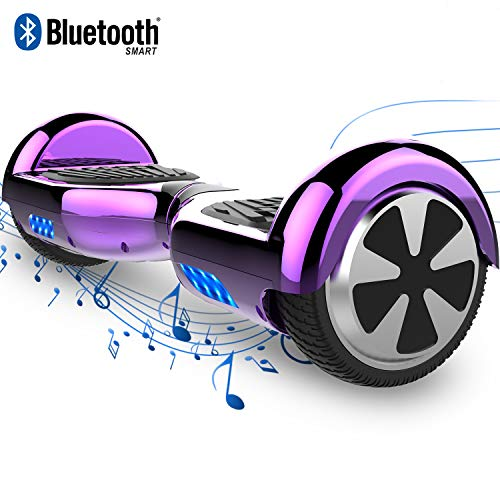 COLORWAY Smart Scooter Electronik Auto Balance Hoverboard 6,5 Zoll Self-Balance mit Bluetooth & LED Self Balance E-Skateboard