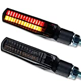 Led Mini Blinker Rücklicht Bremslicht Motorrad Quad Roller Slat schwarz getönt smoke kurz hinten e-geprüft