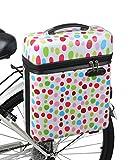 ts-ideen Fahrradkoffer Hardcase Fahrradbox 23 L Aqua Back Packtasche mit Deckel