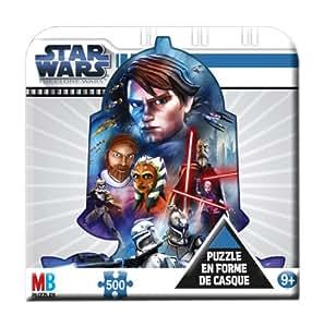 Hasbro - MB Puzzle - 1010 - Puzzle Enfant - Boîte Métal Star Wars - 500 Pièces - L'Attaque des Clones