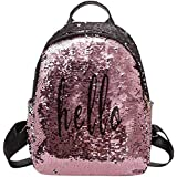 Diving Deep Womens Girls Sequins Small Backpack for Picnic Outdoor Travel Daypack Rucksack Backpack Bag for Girls Womens (Pin