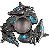 Hand Spinner Fidget, Oyedens Stress Relief Toy alliage Spinner main Fidget Toy Réducteur de stress Made Focus Anxiety Renard Toys for Killing Time (Noir)