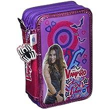 Chica Vampiro Estuche Triple con Kit Completo de papelería Cife Spain 41501