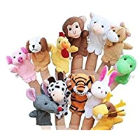 RICISUNG Velvet Finger Animal Toy Puppet Play Learn Story Party Bag Fillers Farm Zoo Hand puppet doll
