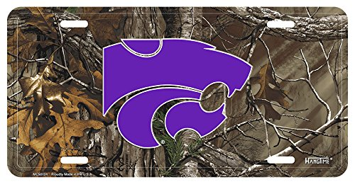 Kansas State (Wildcats) Camouflage Metal License Plate by Wildcats