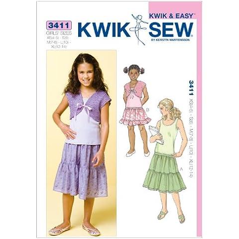 Skirts, Top & Bolero - XS(4 - 5) - S(6) - M(7 - 8) - L(10) - XL(12 - Pattern