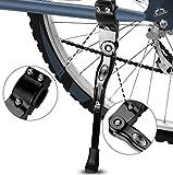 Yododo Fahrradständer, Faltbarer Fahrrad Seitenständer Einstellbarer Universal Fahrrad Ständer mit Anti-Rutsch Gummi Fuß Aluminiunlegierung für Mountainbike, Rennrad, Faltrad,Fahrräder