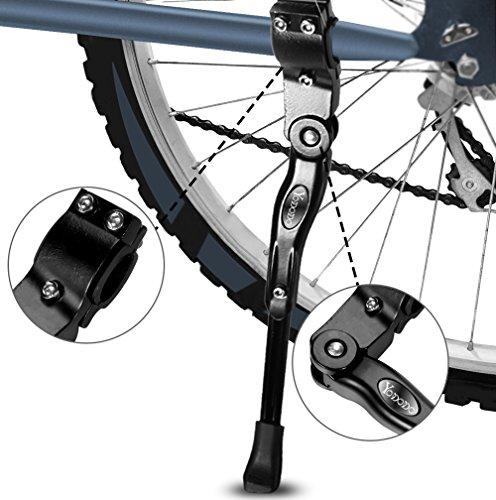 Fahrradständer, Yododo Faltbarer Fahrrad Seitenständer Einstellbarer Universal Fahrrad Ständer mit Anti-Rutsch Gummi Fuß Aluminiunlegierung für Mountainbike, Rennrad, Faltrad ,Fahrräder