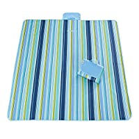 Ice-Beauty-ukzy Multifunctional Picnic Mat Outdoor Blanket Sandproof Moistureproof Waterproof Pad Foldable Portable Suitable Tent Lawn Camping Family Floor Garden Sea Beach