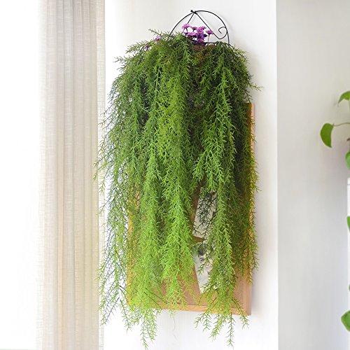 4 unids planta artificial de plástico colgante vástagos tallos falsos decorativos guirnalda...