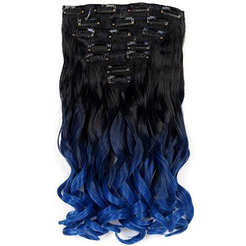 "Neverland Beauty 20"" Full-Kopf-Klipp Clip in Extensions Halbperücke Haarverlängerung Haarverdichtung Haarteil Perücke gewellt 7 Pieces mit 16 clips #7"