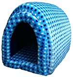 #4: Very Soft And Cute Home Den Bed Blue For Puppies
