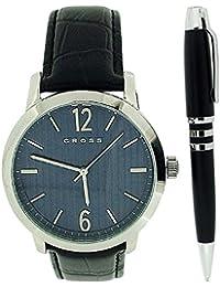 Cross CR1003 - Reloj para hombres, correa de cuero color negro