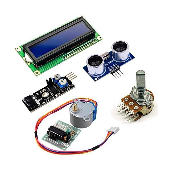 51sTExG3P1L. SS600  - KOOKYE Uno R3 ATmega328 completo kit de arranque para Arduino con 19 proyectos