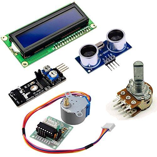 51sTExG3P1L - KOOKYE Uno R3 ATmega328 completo kit de arranque para Arduino con 19 proyectos
