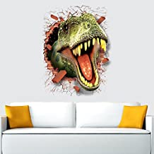 Pegatina de pared adhesivo dinosaurios ladrillos rotos efecto 3D