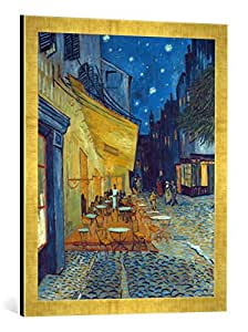 gerahmtes bild von vincent van gogh caf terrasse am abend in arles kunstdruck im. Black Bedroom Furniture Sets. Home Design Ideas