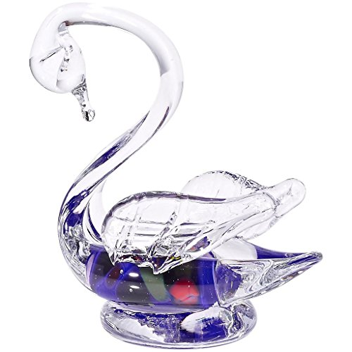 glass-statue-swan-figurine-collection-schwan-12-blue-12-cm-unique-handmade-glass-modern-style-beauti