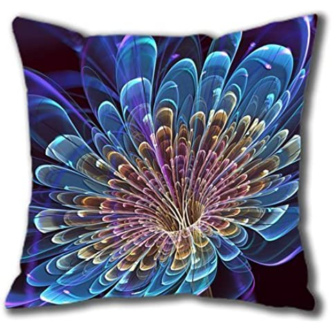 Abstract Flower Cotton Square Pillow Case by Lilyshouse
