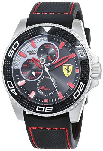 Scuderia Ferrari Homme Analogique Classique Quartz Montre avec Bracelet en Silicone 830467