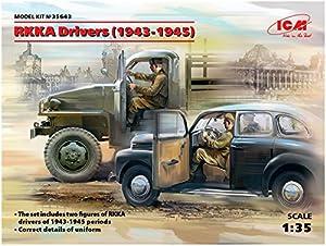 ICM- RKKA Drivers(1943-1945)(2 Figures), Color Gris (35643)