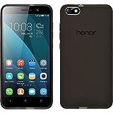 Coque en Silicone pour Huawei Honor 4x - transparent noir - Cover PhoneNatic Cubierta + films de protection