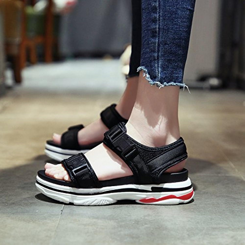 d3f8840f7a4125 sohoeos bout ouvert sandales nouvelle plate forme de de de chaussures  épaisses chaussures de plage fond plat femmes femme étudiants femmes ...