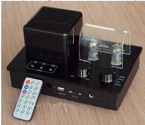 Gowe Hybrid 6F1Tube Verstärker-MP3-Player mit USB-Schlüssel SD Karte Decoder Vorverstärker Kopfhörer-Ausgang