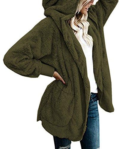 U-shot -  Cardigan  - Maniche lunghe  - Donna Army Green