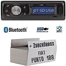 JVC 1DIN AUX USB MP3 Autoradio für Fiat Punto 188, 1999-2005