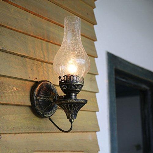 AJZGFApplique Applique murale nostalgique vintage, lampe de cheval vintage lampe kérosène vintage bar café lampe en fer forgé Applique murale (Color : C)