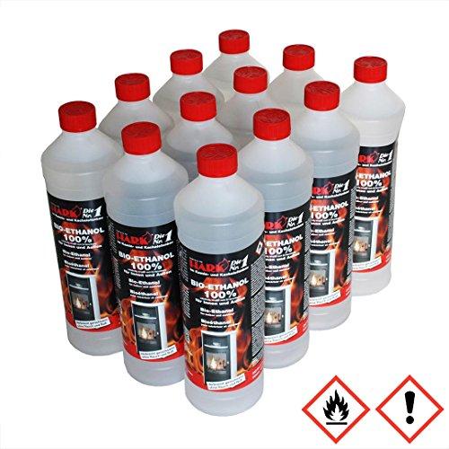 HARK Bio Ethanol Brennstoff 12 Liter 100 {92ab9bf685f2f8dc4c6da8e1517ecd6227531de9a1658a3c5db50c630055c9a4} (3,58 EUR/Liter)