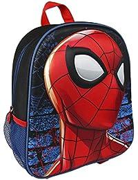 Spiderman 2100001969 3D Mochila infantil, 31 cm, Rojo