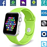 Banaus® BS19 Newest SmartWatch with Bluetooth 4.0 Support SIM Watch Phone for Android Samsung Galaxy S4/S5/S6/S7/Note3/Note4/Note5/Note6 HTC Sony LG Xiaomi Huawei ZUK and iPhone 5/5C/5S/6/6S Green