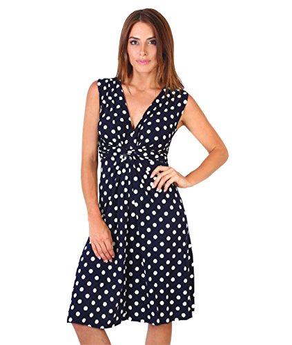 KRISP Damen 6147 Kleid, Braun (Mokka/Weiß 32), 48 (Herstellergröße: 20)