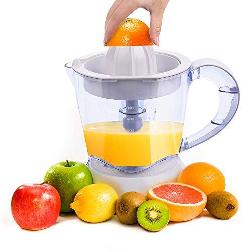 Homdox Zitruspresse Elektrisch Citrus Squeezer Juicer mit Start / Stopp Automatik 1L, 40W für Orangen Mandarinen Grapefruits Limetten Zitronen