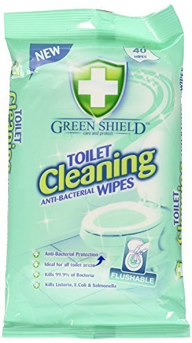 2-x-green-shield-toilet-cleaning-anti-bacterial-flushable-80-wipes
