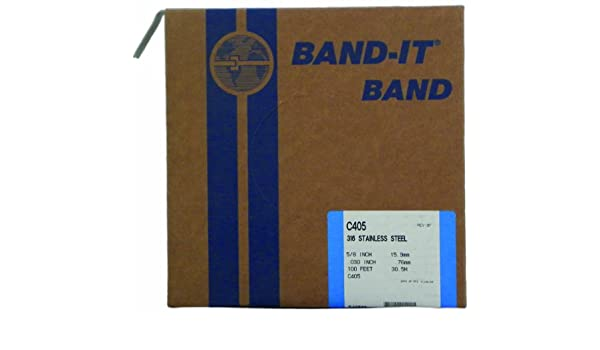 100 Feet Roll BAND-IT C40599 316 Stainless Steel Uncoated Band 5//8 Width X 0.030 Thick