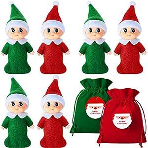 6 Elfos Navideños Pequeños Coloridos