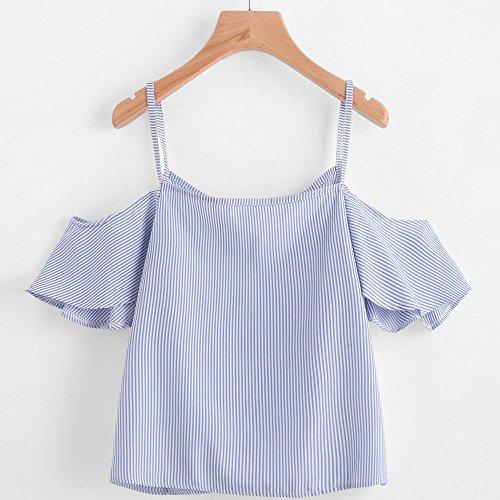 0c0a710063e0 blusas de mujer de moda 2017 verano baratas Switchali camisetas mujer manga  corta blusa elegantes de fiesta la camisa de rayas sin tirantes ropa de ...
